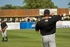 Jogadores de beisebol Foto de Stock