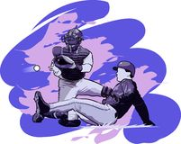 Jogadores de beisebol Fotografia de Stock
