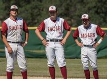 Jogadores de beisebol Foto de Stock Royalty Free