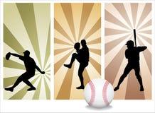 Jogadores de beisebol do vetor Fotografia de Stock Royalty Free