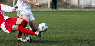 Jogadores de futebol Fotografia de Stock Royalty Free