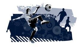 Jogadores de futebol ilustração royalty free
