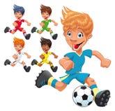 Jogadores de futebol. Foto de Stock