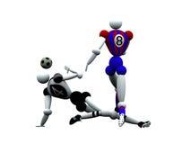 Jogadores de futebol Fotografia de Stock
