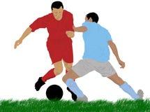 Jogadores de futebol Imagens de Stock Royalty Free