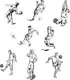 Jogadores de futebol Fotos de Stock Royalty Free