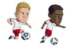 Jogadores de futebol Fotos de Stock