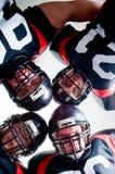 Jogadores de futebol americano Fotos de Stock Royalty Free