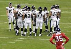 Jogadores de futebol americanos do NFL Fotografia de Stock Royalty Free