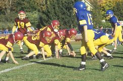jogadores de futebol da Micro-liga Fotos de Stock Royalty Free