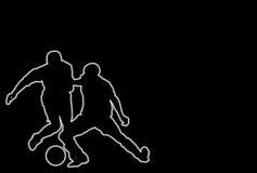 Jogadores de futebol de incandescência Fotografia de Stock Royalty Free
