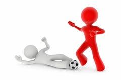 Jogadores de futebol; equipamento de deslizamento ilustração stock