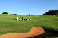Jogadores de golfe Fotos de Stock Royalty Free