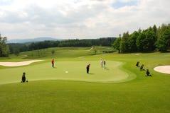 Jogadores de golfe Foto de Stock