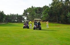 Jogadores de golfe, a Andaluzia, Espanha Fotografia de Stock Royalty Free