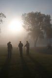 Jogadores de golfe da manhã Fotografia de Stock