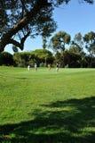 Jogadores de golfe no campo de golfe, EL Rompido, a Andaluzia, Espanha Fotos de Stock Royalty Free