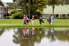 Jogadores de golfe no clube de golfe de Edgecombe da montagem em Durban África do Sul Imagens de Stock Royalty Free