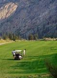 Jogadores de golfe, Osoyoos, BC, Canadá imagens de stock royalty free