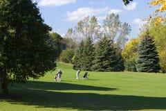 Jogadores de golfe sênior Fotografia de Stock