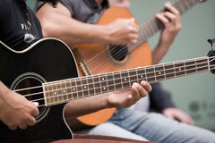 Jogadores de guitarra Imagens de Stock Royalty Free