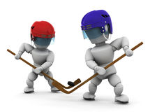 Jogadores de hóquei do gelo Fotografia de Stock Royalty Free