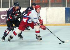 Jogadores de hóquei em gelo Foto de Stock
