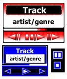 Jogadores de música para o telefone móvel Fotografia de Stock Royalty Free