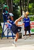 Jogadores de Sepak Takraw Fotos de Stock Royalty Free