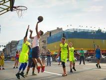 Jogadores de Streetball Fotos de Stock