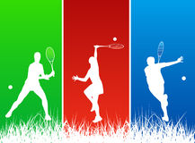 Jogadores de ténis Fotografia de Stock