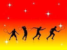 Jogadores de ténis Imagens de Stock Royalty Free
