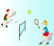 Jogadores de ténis Imagem de Stock Royalty Free