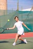 Jogadores de ténis fêmeas Fotografia de Stock