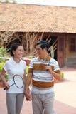 Jogadores de tênis superiores Fotografia de Stock
