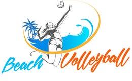 Jogadores de voleibol fêmeas da praia Imagens de Stock
