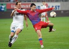 Jogadores do futebol ou de futebol Foto de Stock