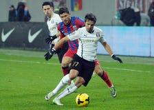 Jogadores do futebol ou de futebol Foto de Stock Royalty Free
