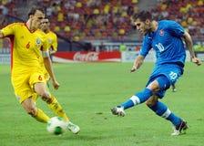 Jogadores do futebol ou de futebol Fotos de Stock