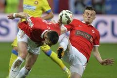 Jogadores do futebol ou de futebol Imagem de Stock Royalty Free