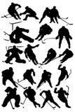 Jogadores do hóquei ilustração do vetor