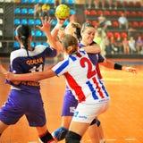 Jogadores do handball Fotografia de Stock Royalty Free