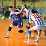 Jogadores do handball Foto de Stock