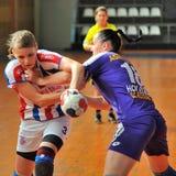Jogadores do handball Foto de Stock Royalty Free