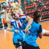 Jogadores do handball Imagens de Stock Royalty Free