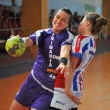 Jogadores do handball Fotos de Stock