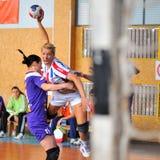 Jogadores do handball Imagem de Stock
