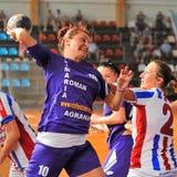 Jogadores do handball Fotografia de Stock