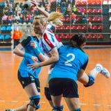 Jogadores do handball Imagem de Stock Royalty Free