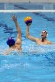 Jogadores do polo aquático Imagem de Stock Royalty Free
